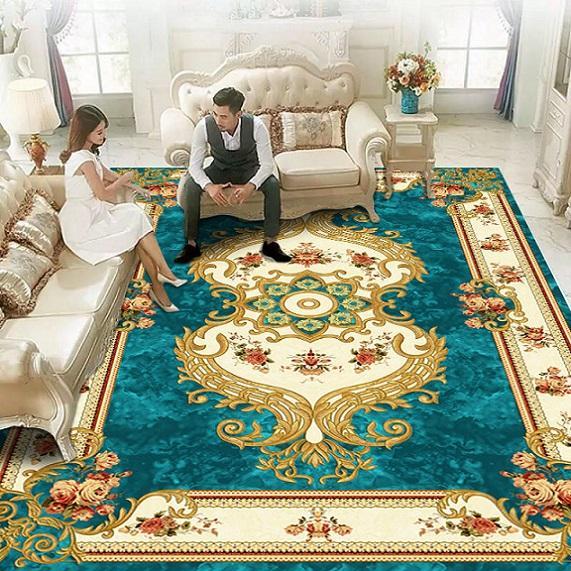 Luxe européens et américains libre-main Tapis en Squre Forme servi en chambre Salon de lit