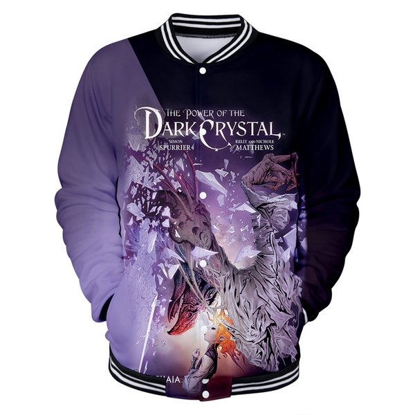 New Jacket Personality 3D The Dark Crystal Jacket Men/Women Coolest Crystal Patterns Young Couples Baseball Wear