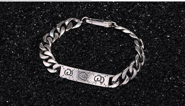 G bracelet male Korean version of the tide 925 sterling silver personality student network red hand jewelry female whips chain fashion peo