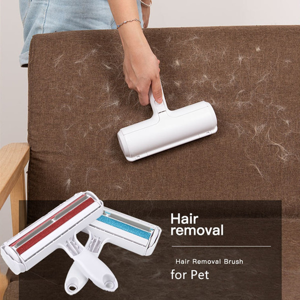 top popular Pet Hair Remover Lint Roller Lint Remover and Pet Hair Roller in one Remove Dog Cat Hair from Furniture Carpets Clothing Pet Tool 2020