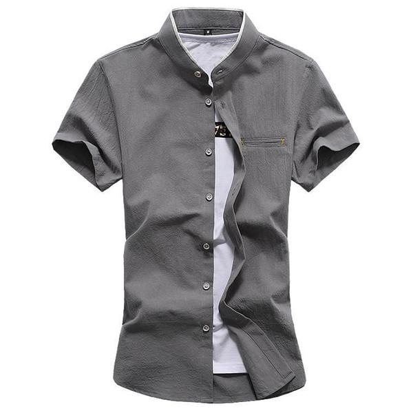 2019 summer new men's shirt Fashion business casual short-sleeved collar shirt Large size brand men 5XL 6XL 7XL