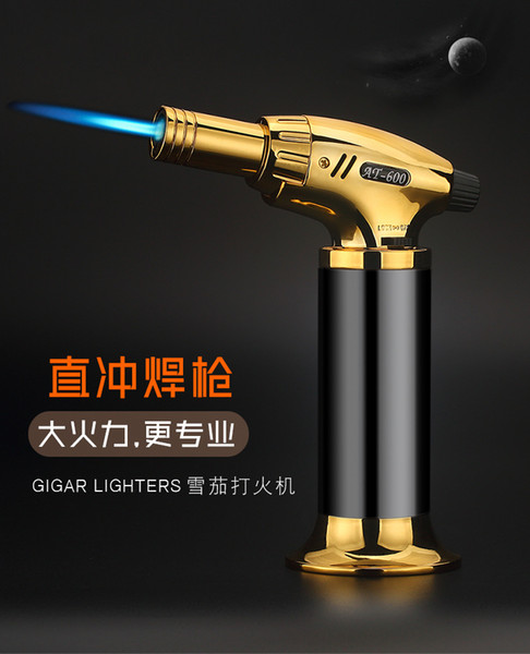 AT 1300C Butane jet torch flame lighter kitchen torch Giant Heavy Duty Butane Refillable Micro Culinary Torch Self-igniting