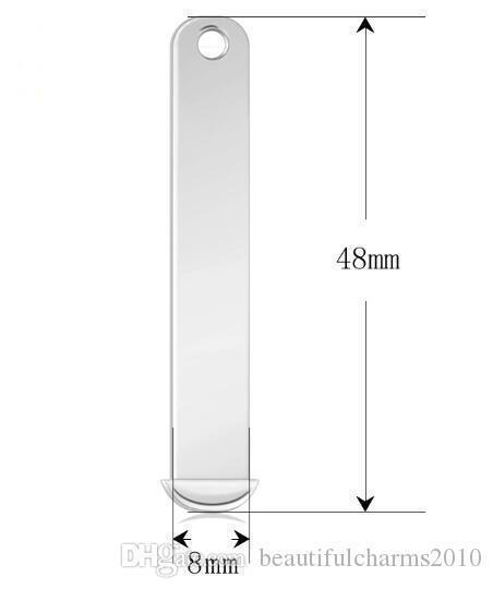 50PCS sacco dello scorrevole di 8mm Bar fascini Lega Accessori fai da te In forma per l'8 millimetri lettere la collana che fa