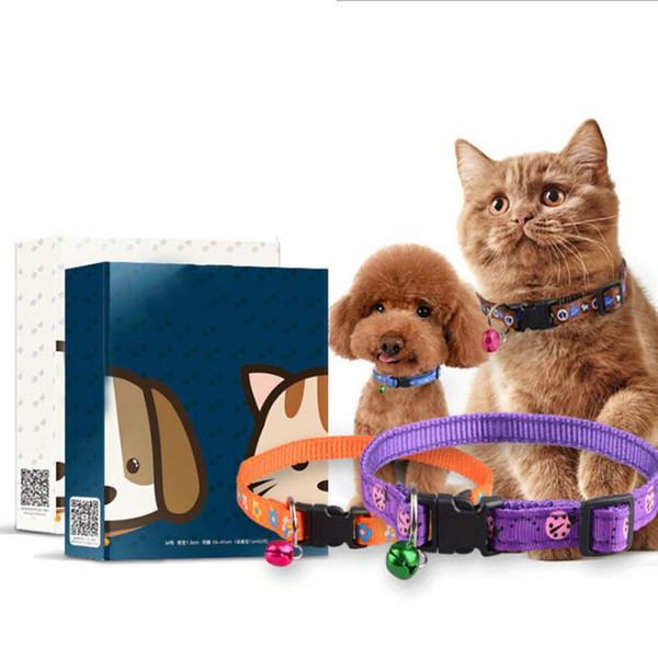 Flea Répulsif collier de chien doux Polyester Chat Chien Colliers pour chat Breakaway collier pour la prévention de fournitures de puces Tick Mite