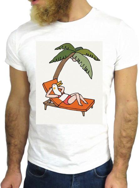 T SHIRT JODE Z1379 TAN PALM DUCK BIKINI SUMMER CARTOON FUN COOL FASHION NICE GGG Men Women Unisex Fashion tshirt Free Shipping Funny Cool