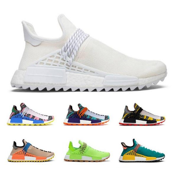2019 NMD Human Race Unisex Running Shoes Pharrell Williams Core Black Sport Designer Fashion Shoes Women Outdoor Sneakers 36-45