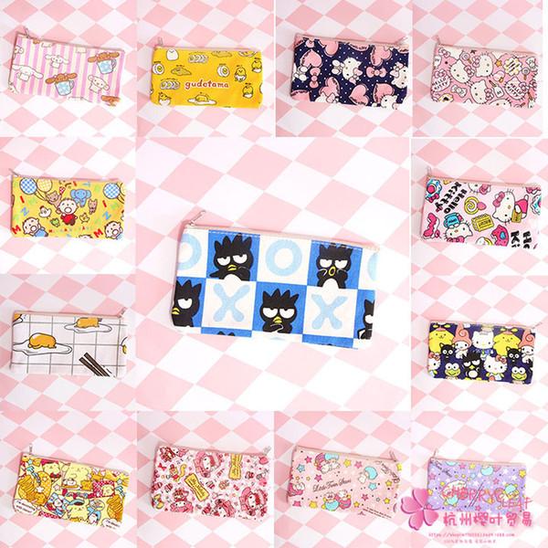 IVYYE KT Cat Melody Anime Sacos de Cosméticos Zíper de Lona Escola Lápis Estojo Caneta Saco De Armazenamento Bolsa Multifuncional Papelaria Novo