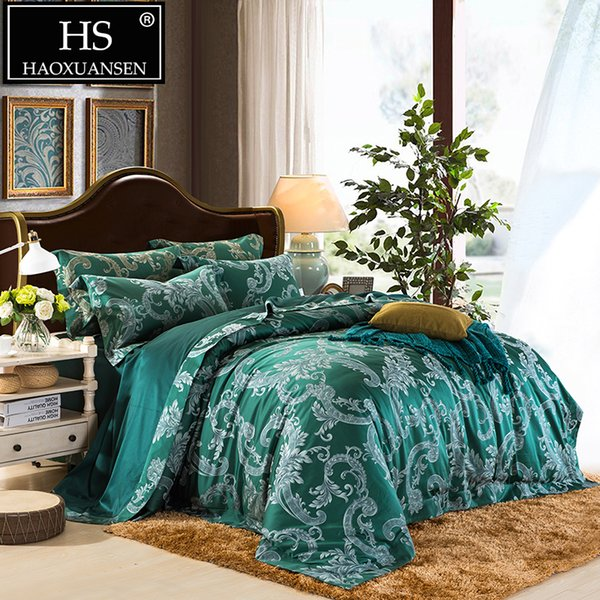 Luxury 650TC Egyptian Cotton Yarn Dyed Jacquard Baroque Paisley Design Bedding set Sheets Duvet Cover Pillowcase Queen King Size