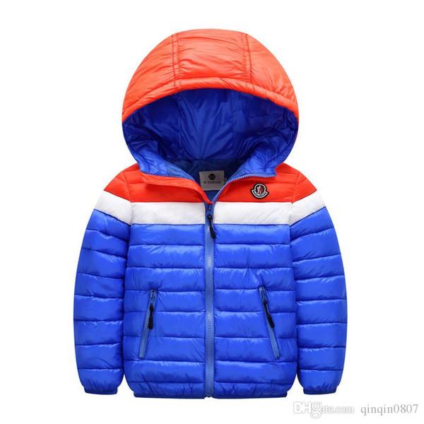 Moda Kış Çocuk Fermuar Ceket Çocuklar Sıcak Uzun Kollu Aşağı Ceket Kapşonlu Kabanlar Kızlar Için Çocuk Kış Hoodies Giyim