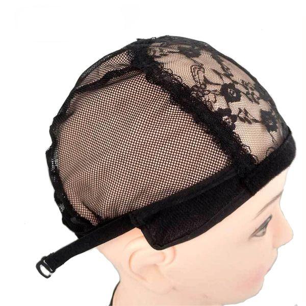 5pcs/lot Adjustable Lace Wig Caps for Wig Making Caps Weave Weaving Cap Stretchy Net Mesh Straps Hair Net Dome Caps