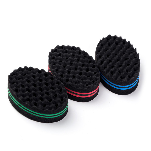 2019 Barber Hair Wave hairdresser Brush Sponge for Dreads Afro Locs Twist Curl Coil Magic Hair Styling Tools