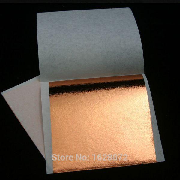crapbooking Stamping Craft Paper 100PCS Rose color leaf ,shiny Imitation gold leaf, 8X8.5cm ,alloy foil, wall, crafts, furniture, paintin...