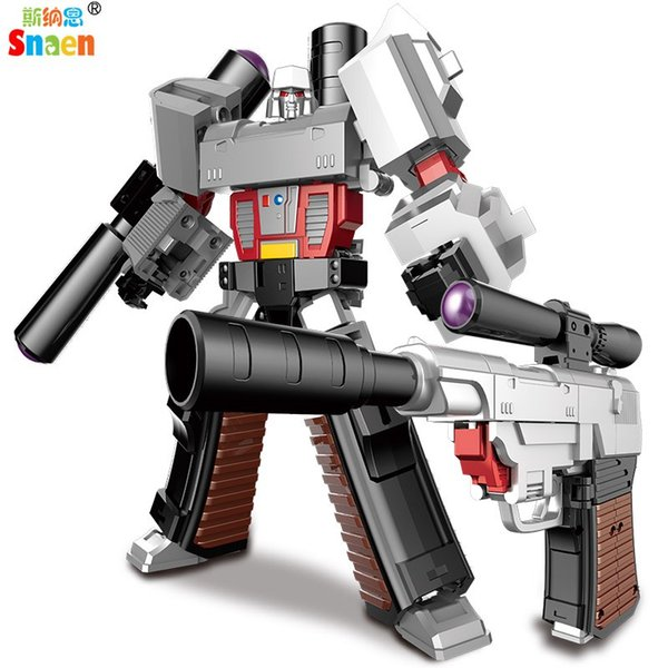 Snaen Transformation G1 KO Assembly Gun Robot Military Model Metal Alloy Action Figures Robot Boys Gift Classic Collection Toys