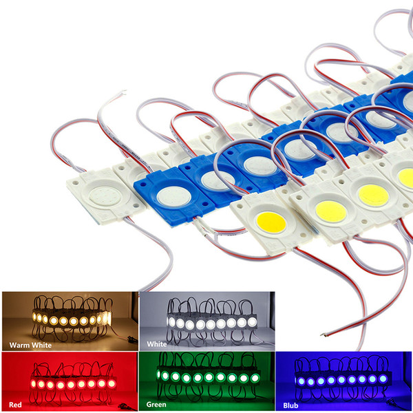 Módulo de LED String COB 2.4W DC12V Impermeable para publicidad exterior Luminous Signs Lightbox DIY Módulo LED Strip