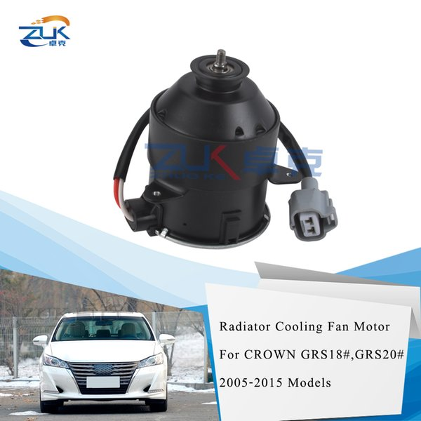 best selling ZUK Brand New High Quality Radiator Cooling Fan Motor For TOYOTA CROWN GRS18# GRS20# 2005-2015 OEM:16363-0P010 163630P010