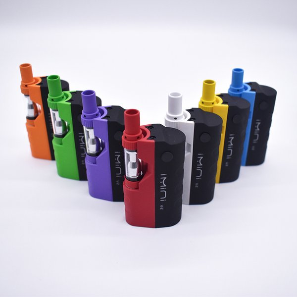 Красочные оригинальный Imini vape модов ecig стартовый комплект аккумуляторная 650 мАч разогреть аккумулятор с 1.0 мл стеклянный бак картридж воск Vape pen