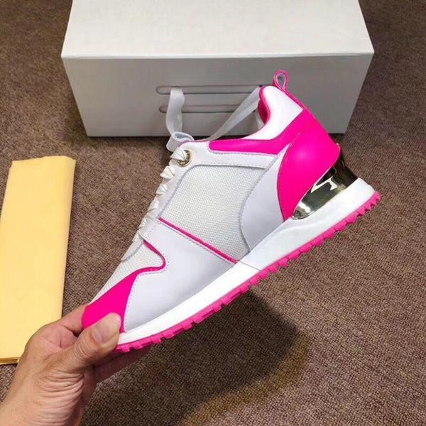 2019 Yeni Lüks Deri Ayakkabı Kadınlar Tasarımcı Sneakers Ayakkabı Gerçek Deri Moda Karışık Renkli LH 06