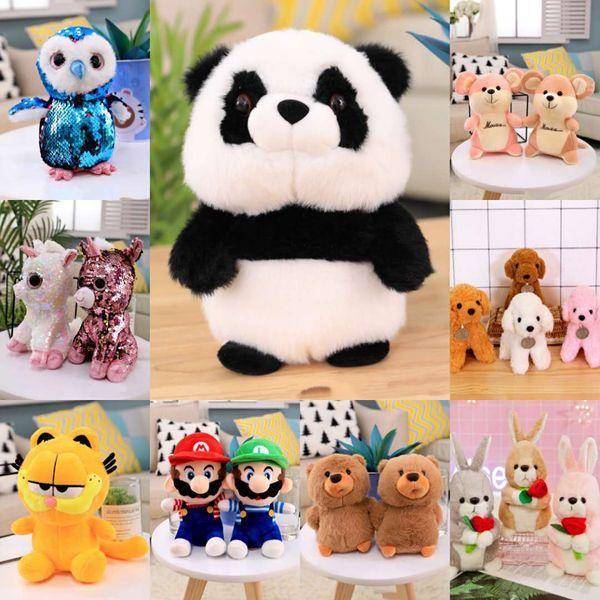 Novos brinquedos de pelúcia 8 polegadas 25 centímetros bicho de pelúcia Panda Unicorn Garfield Brinquedos infantis presentes brinquedos de crianças presentes macia Dolls aniversário dos miúdos