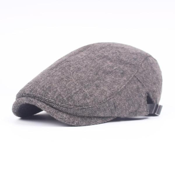 2019 Fashion New Male Flat Cap Leisure Men Berets Winter Chapeau Gentleman Winter Thick Caps Autumn Bone Hot Sale From Agonon, $17.29 | DHgate.Com