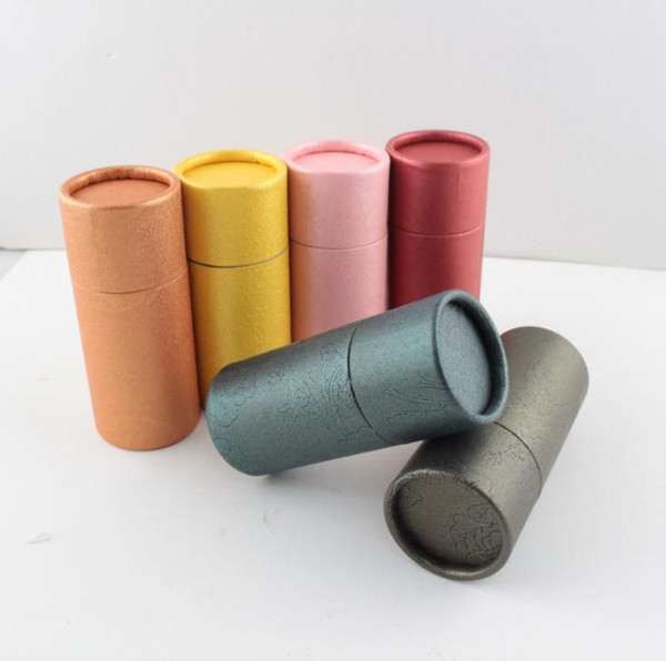 10ml Essential Oil Bottle Kraft Paper Packaging Cardboard Tube Jewelry/Cosmetics /Gifts Packing Box Free Shipping SN2234
