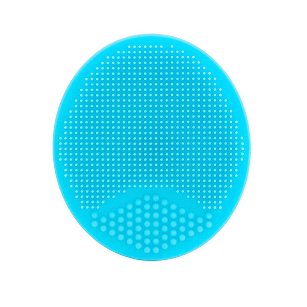 Silicone Beauty Wash Pad Face Blackhead Facial Cleansing Brush Tool Soft Silicone Round Shape Beauty Powder Puff