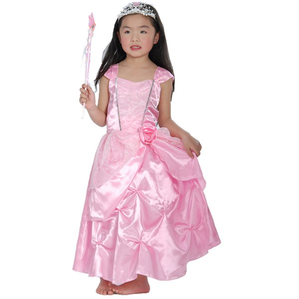 wholesale Carnival Girl Dance Colour Princess Summer Dress Children Show Full Dress Skirt Baby Performance Serve Halloween cosplay Costumes