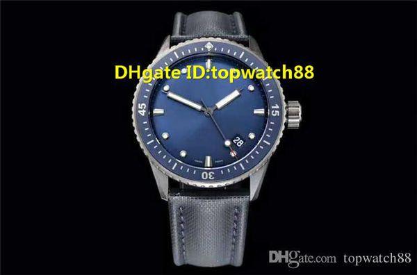 GF Hot Sale Watch 43.6mm Cal.1315 Automatic Sapphire Crystal Ceramic Case Blue Dial Canvas Strap transparent case back Mens Watch