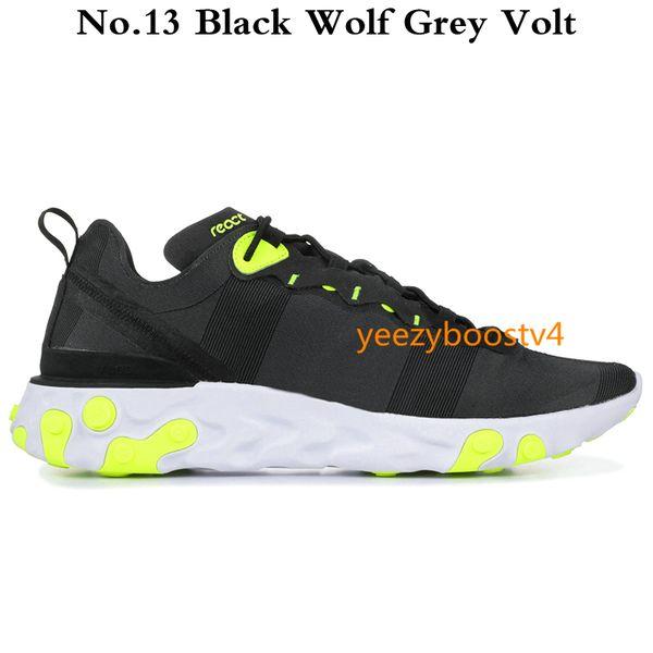 No.13 lobo negro gris voltio
