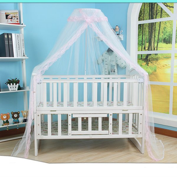 1* Mosquito Net Hot Selling Baby Bed Mosquito Net Mesh Dome Curtain for Toddler Crib Cot Canopy 2018 Blue Pink Yellow Color