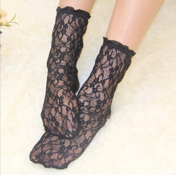 Women Fishnet Thigh High Stockings Lace Stockings Breathable Slip Stockings