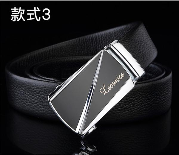 First layer cowhide men's belt manufacturers wholesale leather business automatic buckle leisure belt a hot style