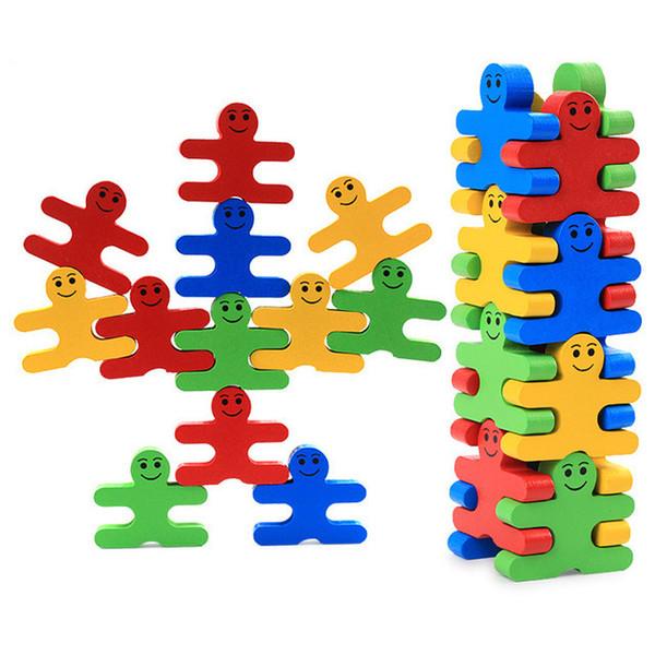 Baby Holzspielzeug Blöcke Balance Spiel Baustein Frühe Pädagogische Ziegel Spielzeug Tischspiel Spielzeug für Kinder Spielen mit Freund