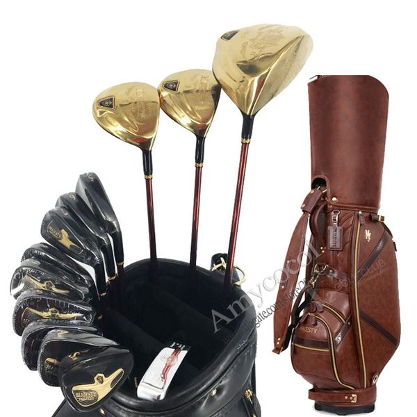New Golf Clubs Maruman Majesty Prestigio 9 complete clubs set Driver wood irons Putter and Golf Bag Graphite Golf shaft Full Set