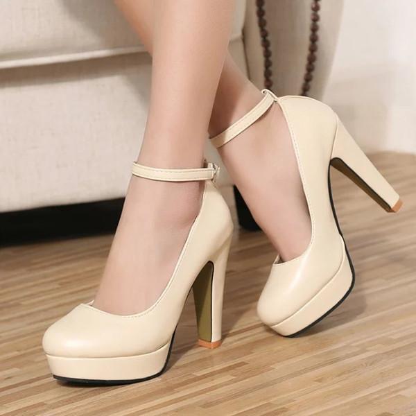 2019 Yeni Kadın Siyah Yüksek topuklu Pompalar 7.5 cm Lady Patent deri Sonbahar Sivri Tek Ayakkabı ile Kalın Kadın Sandalet
