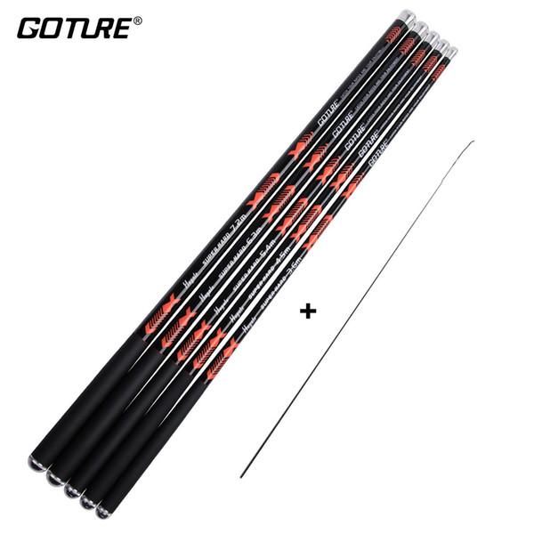 Goture Hayate Series Carbon Fiber Fishing Rod 3.6M-7.2M Superhard Feeder Rod for Carp Fishing Pole Stream