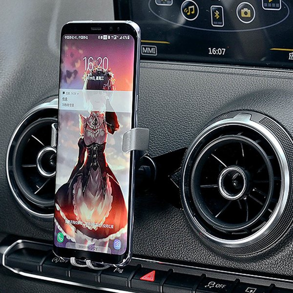 M Shape Mobile Phone Holder Car Air Vent /autobot Gravity Car Air Outlet Mount Cell Phone Bracket For Audi A3/s3 (2014-2018) T190620