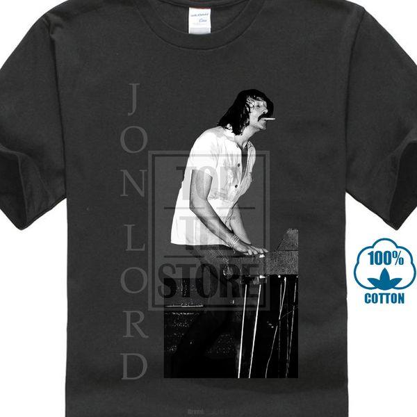 Jon Lord Logo R I P Camiseta negra Deep Purple Whitesnake Hammond Hard Rock 100% Algodón Estampado Hombre Verano O Cuello Juventud