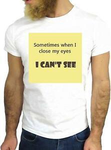T-Shirt Jode ggg24 z1021 Manchmal, wenn ich meine Augen schließe, sehe ich keine coolen Zitate