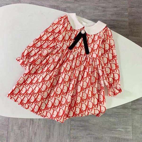 западные девушки обмундирования малышей девочек одежды новая длинный рукав воротник длинного рукав бренд дети девочка одежда