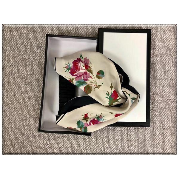 Banda de seda elástica de la marca Bandanas para mujeres Primavera Diseño floral caliente Diademas Bandas para el cabello Para mujeres Chica Retro Turbante Headwraps