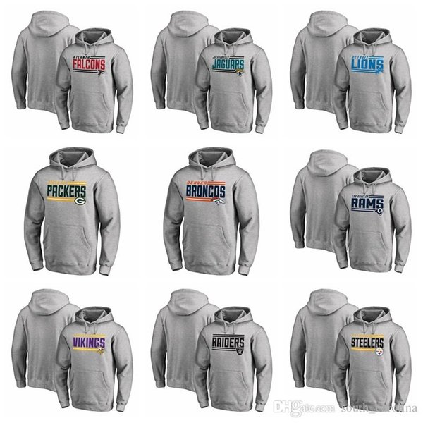 low priced b8281 25715 2019 Falcons Pittsburgh Steelers Denver Broncos Green Bay Packers Minnesota  Vikings Oakland Raiders On Side Stripe Big & Tall Pullover Hoodies From ...