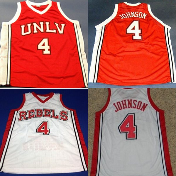on sale 4e92b bb554 2019 #4 Larry Johnson Unlv Runnin Rebels Stat NCAA Jersey 100% Stitched  Larry Johnson College Basketball Jersey Red White S XXXL From  Projerseysword, ...