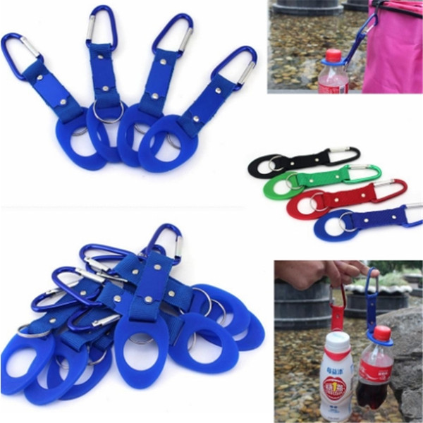 Outdoors Water Bottle Buckle Cup Hook Holder Clip Bottle Hanger Aluminum Carabiner travel Tool Camping Hiking Gadgets 20190422ayq
