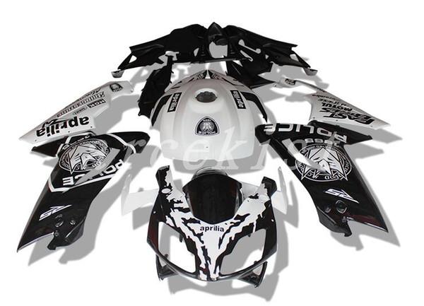 Nuevo kit de carenados de bicicleta para Aprilia RS4 RSV125 RS125 07 08 09 10 11 12 RS125R RS-125 2006 2007 2008 2009 2010 2011 2012 personalizado blanco negro