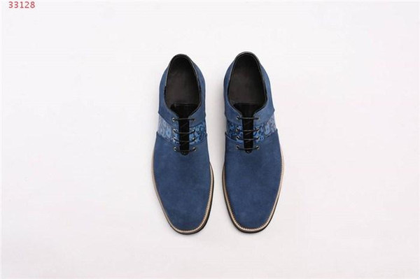 Man classic bee stripe leather shoes recreational business leather shoes Leopard print dress shoes with low heels With box