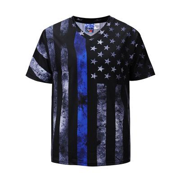 USA Flag T Shirt Men Women V Neck 3D Tshirt Print Striped American Flag Men T-Shirt Summer Tops Tees Men Poleras Hombre EUR Size