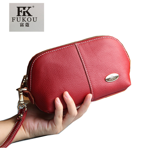 Ladies Shell Cosmetic bag Case genuine leather beautiful Toiletry Actor makeup Clutch Bag Professional organizer bags cell