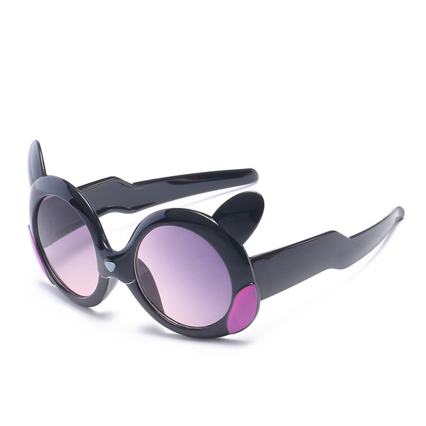 Nouveaux lunettes de soleil pour enfants Petite lunettes de soleil mignonnes Protection Uv Protection Ac Matière de la lentille Cartoon Double charnières Lunettes de soleil