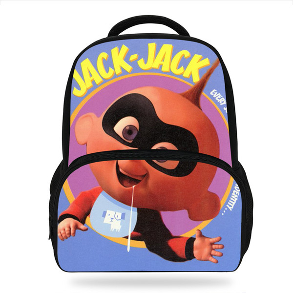 14Inch Cartoon Jack Jack Incredibles Design School Backpack For Children Daily casual School Bag For Kids Boys