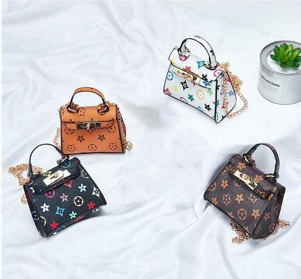 New Kids Handbags Fashion print baby Mini Purse Shoulder Bags Teenager children Girls Messenger Bag Cute Christmas Gifts